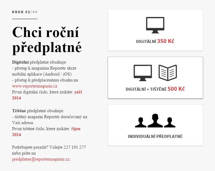 Reportér magazine example