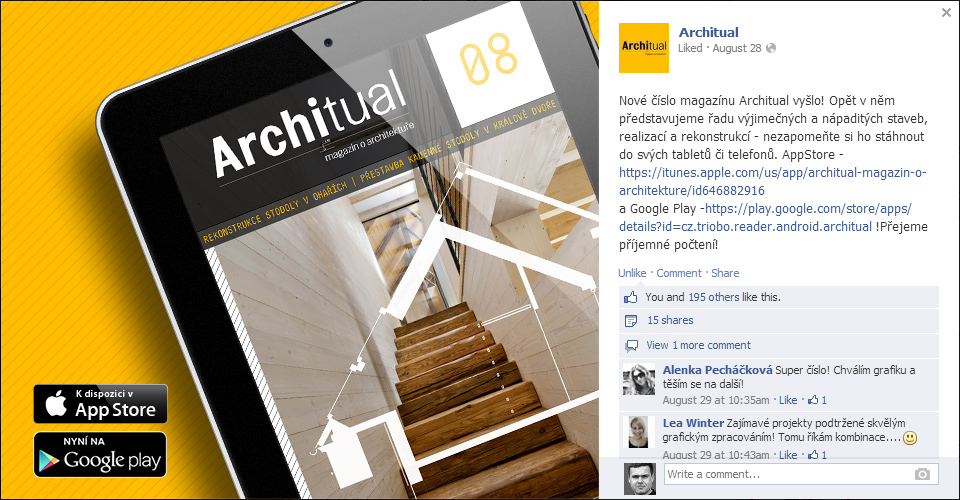 tablet magazine Architual generated by Triobo